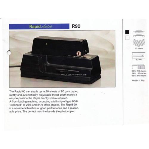 เครื่องเย็บกระดาษไฟฟ้า ราปิด รุ่น 90E(Rapid 90 EC Electric Stapling machine)เย็บลึก6ซม.