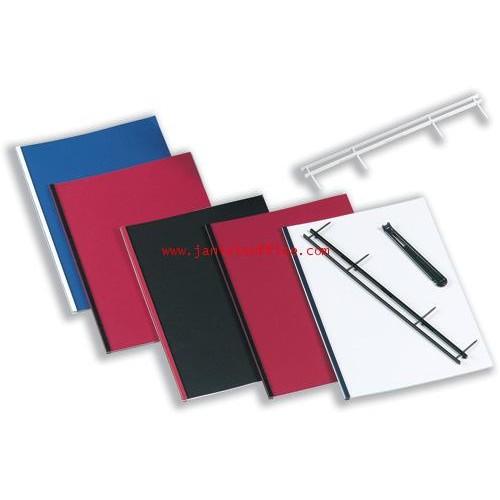 สันตะเกียบ 4 เข็ม 1 นิ้วสีดำ (GBC VeloBind Strip) 100อันกล่อง