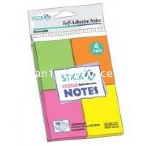 กระดาษโน้ต สติกเอ็น นีออน 21091 1.5x2นิ้ว คละสี