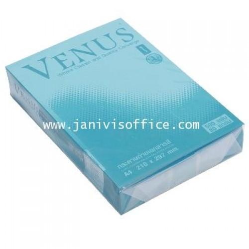 กระดาษถ่ายเอกสารสีเข้ม 80 แกรม A4 VENUS no.13 ฟ้าเข้ม(1x 500แผ่น)
