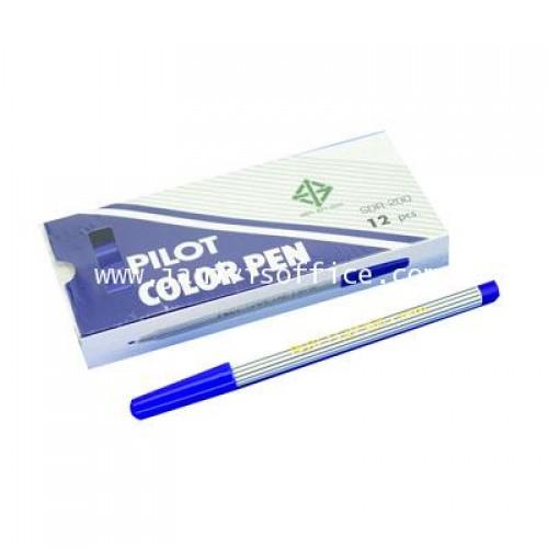 ปากกาเมจิก PILOT SDR-200 สีน้ำเงิน (12 แท่ง1กล่อง)