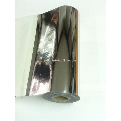 ฟรอยส์เลเซอร์สี ชนิดม้วน 8นิ้วx400 ฟุตสีเิิงินเงา