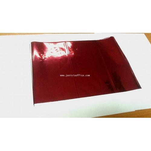 ฟรอยส์เลเซอร์สี ชนิดม้วน 8นิ้วx400 ฟุตสีแดงเงา