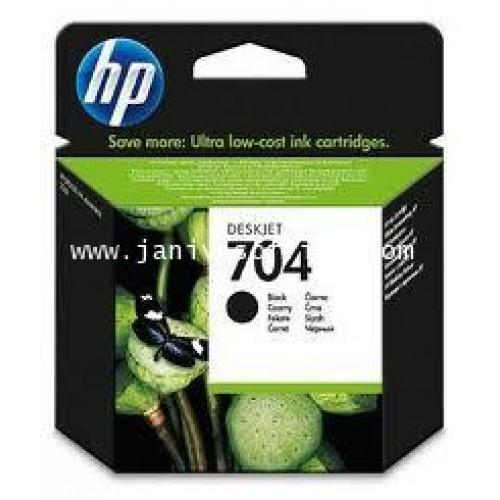 หมึกอิงค์เจ็ท HP 704 Black CN692A  HP Ink Black