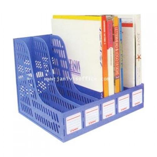 กล่องใส่เอกสารโรบิน 5 ช่อง 125 สีน้ำเงิน