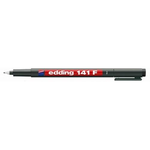 ปากกาเอนกประสงค์ ลบไม่ได้ edding 141 F(0.6มม.)สีดำ Permanent OHP Marker