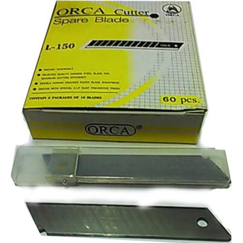 ใบมีดคัตเตอร์ ออร์ก้า L-150 45องศา(1หลอดมี6ใบ)
