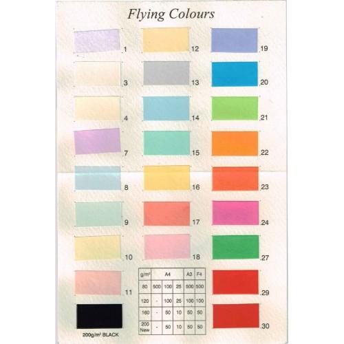 กระดาษทำปก FLYING COLOURS 120 แกรม A4 no.1 สีขาว