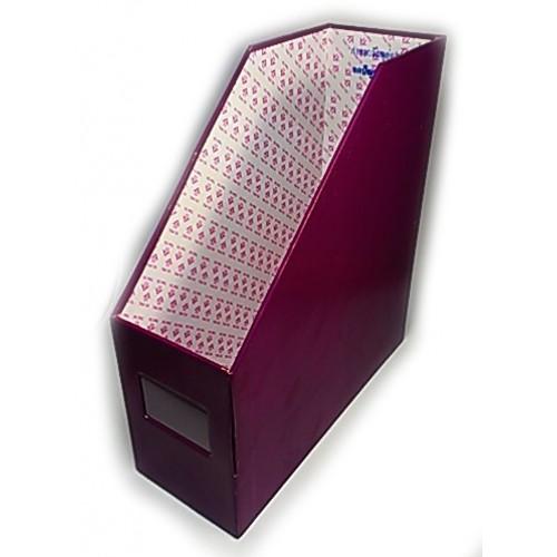 กล่องใส่แฟ้ม  1ช่อง สีม่วง