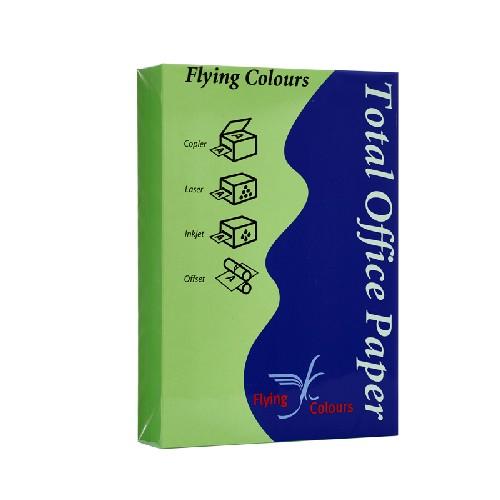 กระดาษสีถ่ายเอกสาร Flying no.21 A4 80g 500แผ่น สีเขียวใบไม้