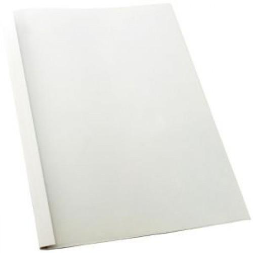 ปกสันกาวร้อน(ปกสำเร็จรูปใช้กับเครื่องสันกาว )ขนาด 3 มม.(หน้าใส-หลังการํดขาว)A4 15แผ่น