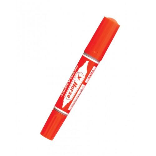 ปากกาเคมีสองหัว ตราม้า ชุด12สี