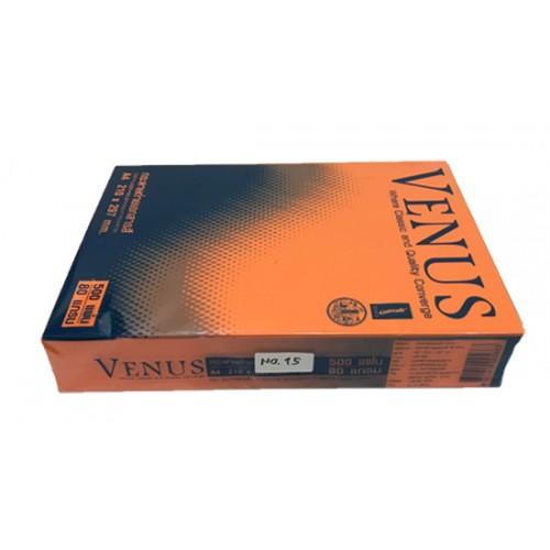 กระดาษถ่ายเอกสารสีเข้ม 80 แกรม A4 VENUS no.15 ส้มเข้ม(1x 500แผ่น)