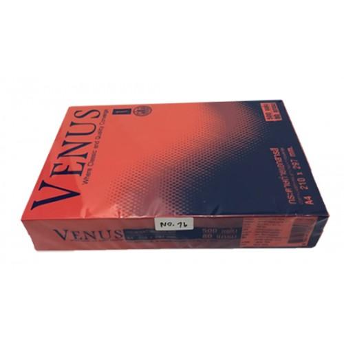 กระดาษถ่ายเอกสารสีเข้ม 80 แกรม A4 VENUS no.16 แดงเข้ม(1x 500แผ่น)