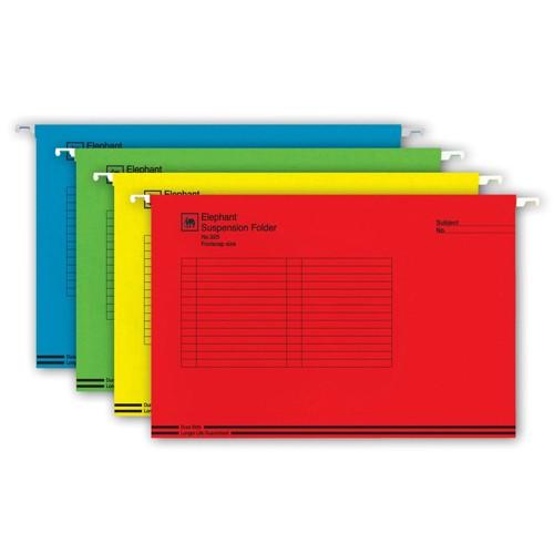 แฟ้มแขวนตราช้างรุ่น 925 F4 คละสี(10เล่มแพ๊ค)