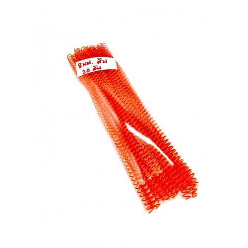 สันเกลียวพลาสติก PVC coilbinding ขนาด 8 มม.20อันแพ็ค