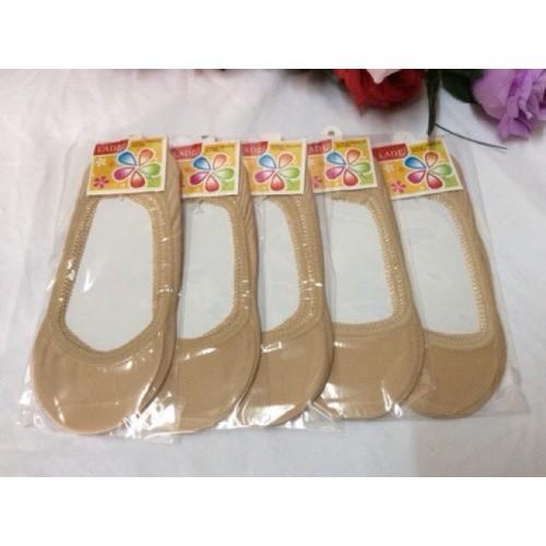 ถุงเท้านักเรียนขาวพื้นเทา สำหรับเด็กชายหญิง 4-6