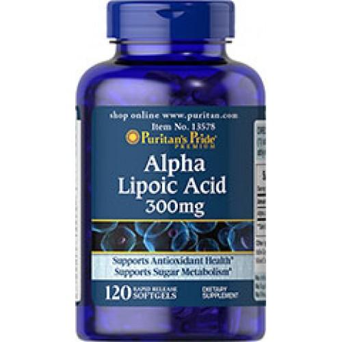 Puritan Alpha Lipoic Acid 300 mg 120 Softgels (USA) ALA��������������������� ��������������������� ������������������������������������������������������������
