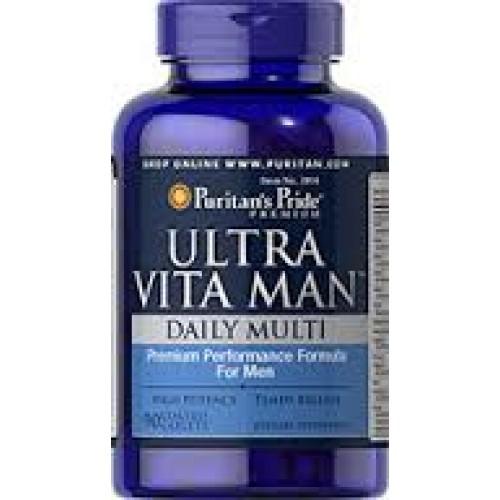 Ultra Vita Man 90 เม็ด วิตามินรวมสำหรับผู้ชายยี่ห้อ Puritans Pride