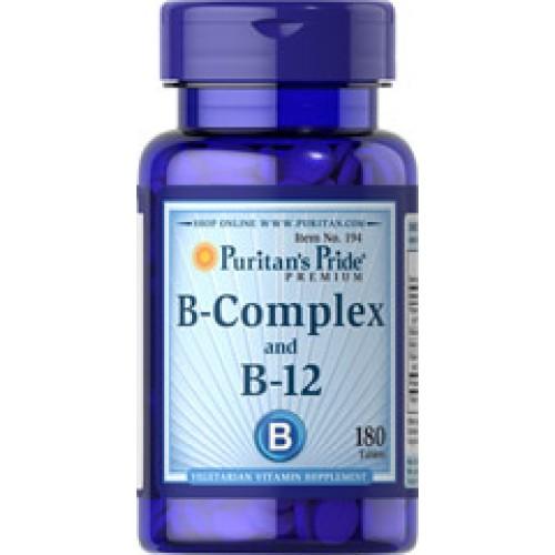 Puritan Vitamin B-Complex And Vitamin B-12 วิตามินบีรวม บำรุงประสาทสมอง ตา ผิวหนังและเส้นผม 180เม็ด