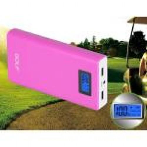 Power bank Golf 15600mAh รุ่น GF-LCD06 หน้าจอ LCD แบตสำรองคุณภาพดีเยี่ยม ดีไซน์สวย ใช้วัสดุดี สีชมพู