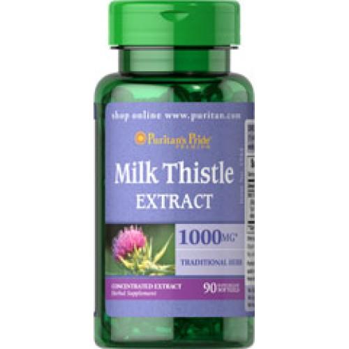 Milk Thistle Extract 1000mg. (Silymarin) Detoxและปกป้องสารพิษเข้าสู่ตับ กระชับช่องคลอด