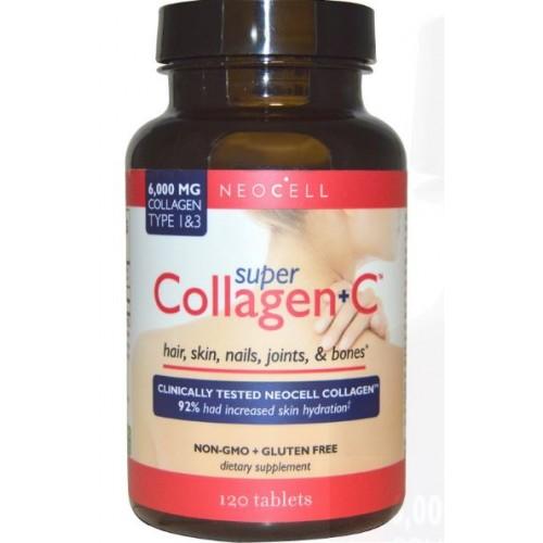 Neocell, Super Collagen+C, Type 1  3, 120 Tablets คอลลาเจนนีโอเซล 120 เม็ด
