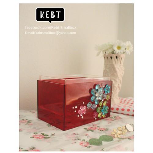 กล่องเก็บเครื่องสำอาง FANCY  BOX  RED 01