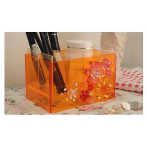 กล่องเก็บเครื่องสำอาง FANCY  BOX  ORANGE 01