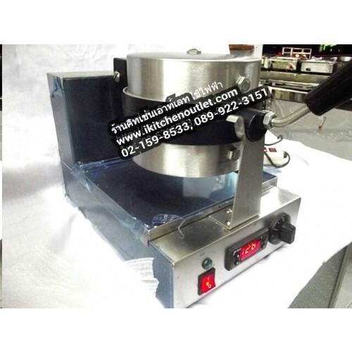เตาวาฟเฟิลไฟฟ้าพิมพิ์ลึก (ถาดกลม) ระบบดิจิตอล สเตนเลสอย่างหนา