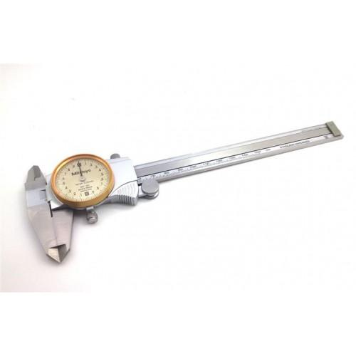 เวอร์เนียแบบเข็ม Mitutoyo Dial Calipers 0-150MM 505-683 (Titanium plating color)