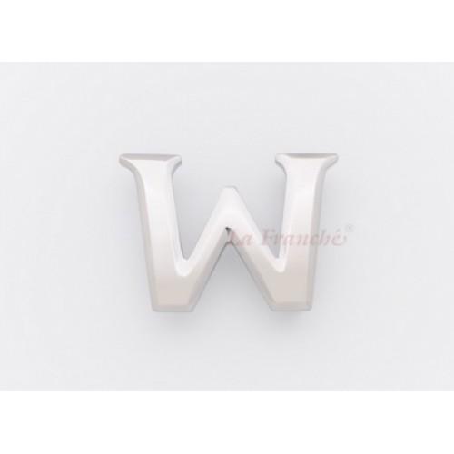 หัวเข็มขัดสแตนเลส อักษร W - code 3ET2301