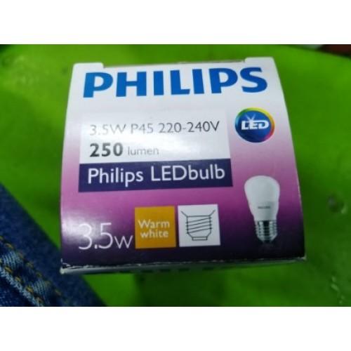 PHILIPS 3.5W P45 220-240V 250LUMEN WARM WHITE ราคา 400 บาท