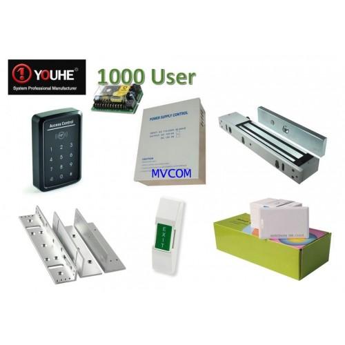 เครื่องทาบบัตร AccessControl YOUHE พร้อมอุปกรณ์ ( ฟรีค่าติดตั้ง )