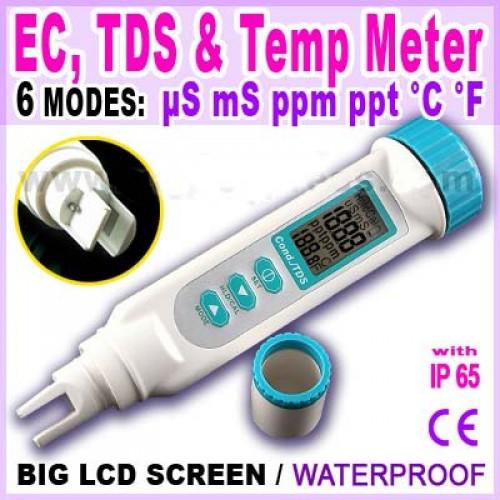 มิเตอร์วัดค่า EC  TDS  Temperature แบบ 3in1 ในตัวเดียว