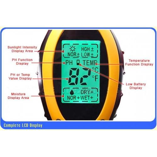 เครื่องวัดดิน ระบบดิจิตอล 4in1 - วัดค่า pH ดิน, วัดความชื้นดิน, วัดอุณหภูมิดิน และค่าแสง รุ่น DSM-90