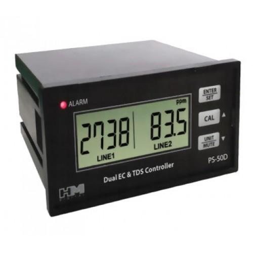 Controller EC TDS สำหรับปลูกผักไฮโดรโปนิกส์ ยี่ห้อ HM ช่วง EC 0-20.0mS, TDS 0-9999ppm -Analog output