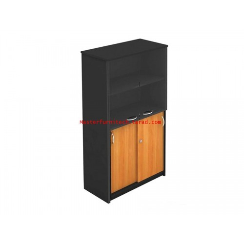 ตู้เอกสารด้านบนบานเปิดกระจก - ล่างบานเลื่อนทึบ DLS-8117
