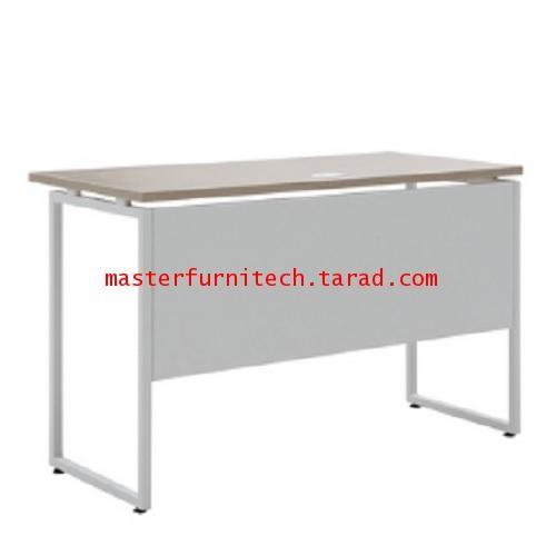 โต๊ะทำงานขาเหล็ก สีโอ๊ค+ขาว รุ่น ML-TR1255W