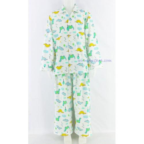 ชุดนอนเด็กชาย ไซส์ 4-6 แขนยาว ขายาว ผ้ายืด (แบบคอปก กระดุมผ่าหน้า) คลิกดูรายละเอียดเพิ่มเติม