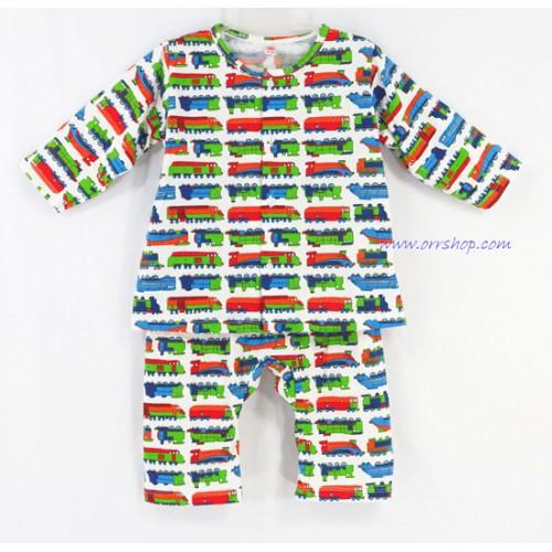 ชุดนอนเด็ก ไซส์เด็กจิ๋ว ( 6 M ) แขนยาว ขายาว ผ้ายืด (แบคอกลม กระดุมผ่าหน้า) คลิกดูรายละเอียดเพิ่ม