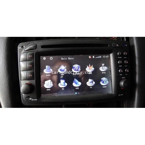 DVD GPS Bluetooth สำหรับ Mercedes Benz W203208209W163