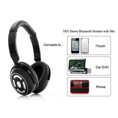หูฟัง HiFi Stereo Bluetooth พร้อมไมล์ เชื่อมต่ออุปกรณ์ได้ 2 เครื่อง
