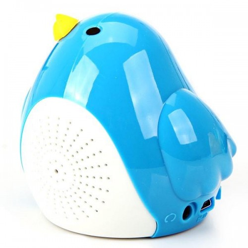 นกน้อยร้องเพลงได้ เครื่องเล่น MP3 พร้อมลำโพง (สีฟ้า)