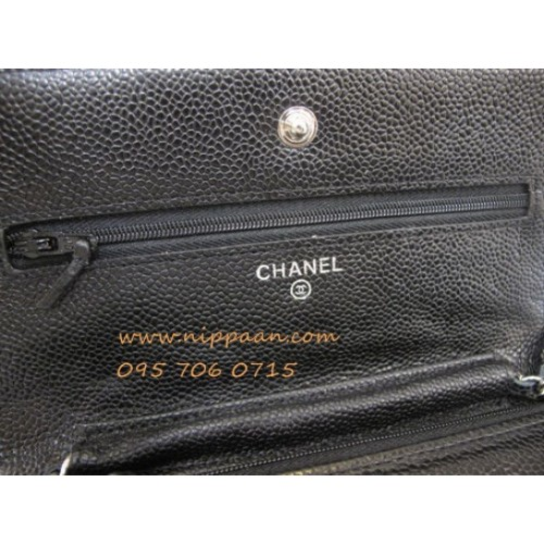 Chanel Wallet on Chain or WOC Cavier Leather SHW Top mirror image ������������������������������������������������������������������������������������