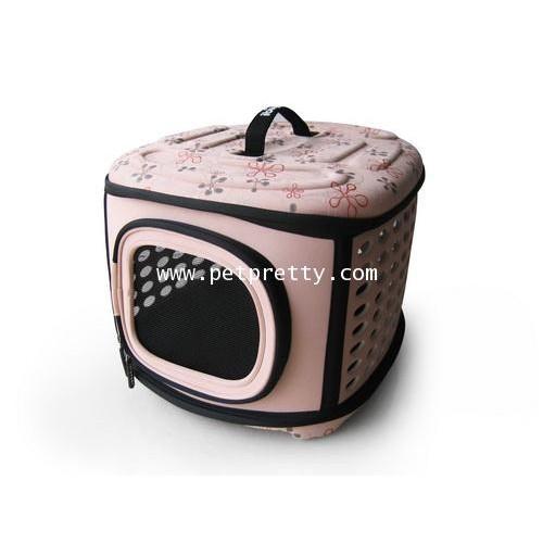 กระเป๋าใส่สุนัข แมว กระต่าย ยี่ห้อ Ibiyaya ทรงกล่อง นน.เบา รับนน.1-6kg. สีชมพูกะปิ