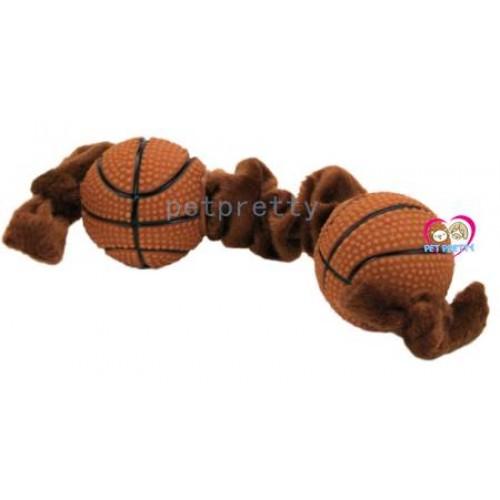 ของเล่นสุนัข Lil Pals® Plush  Vinyl Basketball Tug รูปบาสเกตบอล  ยืดๆได้  ขนาด 8นิ้ว