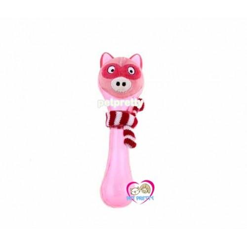 ของเล่นสุนัข GigWi  Plush Friendz หมูชมพูมีผ้าพันคอ  ลอยน้ำได้ ทนทานยาว21เซน