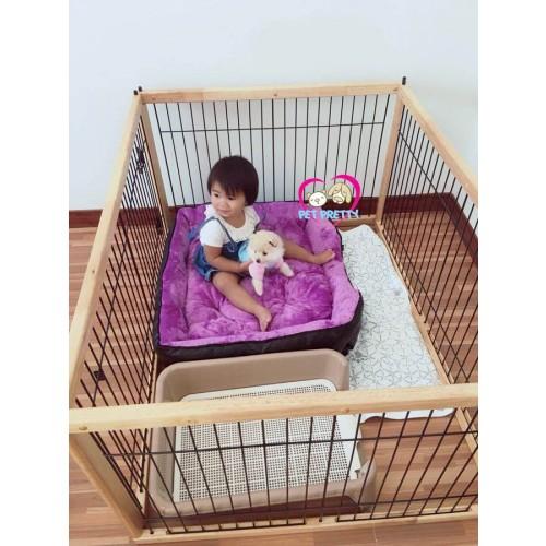 ที่นอนน้องหมา หนานุ่มหนังเทียมเท่สีดำ ปักหมุดร๊อค (เบอร์9)สุนัข1-35กก.