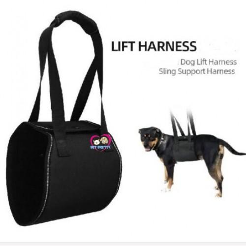 ที่พยุงตัวสุนัข DOG  LIFT HARNESS - S ขนาดรอบอก  50-56cm สีดำ แบรนด์TU